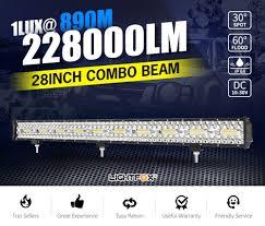 28inch CREE <b>LED</b> Light Bar Spot Beam Triple Row <b>Work</b> Driving ...