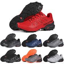 <b>Hot Sale</b> Salomon Speedcross 5 <b>CS</b> Men Running Shoes Red White