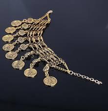 ⑧Новые Винтаж Мода очарование богемы монет Браслеты ...