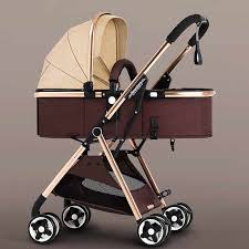 High Landscape Luxury <b>Baby Stroller Reversible</b> Traveling <b>Pram</b> ...