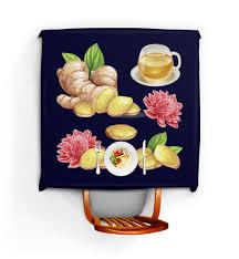 """Скатерть квадратная """"Имбирь и цветы"""" #2330388 от nadegda ..."""