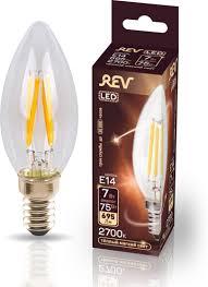 <b>Лампочка REV Deco Premium</b> Filament С37, Теплый свет, E14, 7 ...
