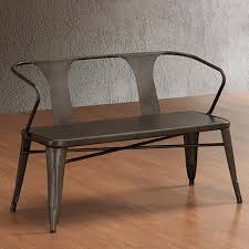 <b>Vintage Metal Bench</b> with Back. Spruce up Your Foyer or Backyard ...