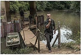 The Walking <b>Dead</b> Andrew Lincoln as Rick on <b>walkie talkie</b> 8 x 10 ...