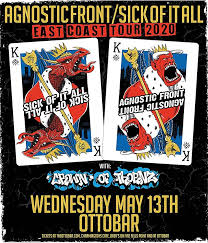 <b>Sick of it All</b> and Agnostic Front – Tickets – Ottobar – Baltimore, MD ...
