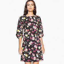 <b>Платье</b> с <b>цветочным</b> принтом рисунок <b>цветочный</b>/фон черный <b>La</b> ...