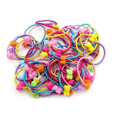 <b>5pcs High Quality</b> Carton <b>Round</b> Ball Kids Elastic Hair bands Elastic
