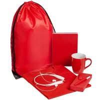 Заказать <b>Набор Welcome Kit</b>, <b>красный</b> с логотипом | на заказ ...