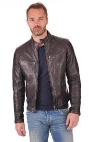 Blouson Dustin Marron <b>Daytona</b> | Veste en cuir pour homme, Veste ...