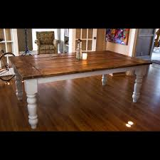 7ft dining table: ft oversized farmtable with spun legs rustic dining tables