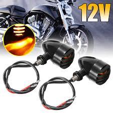 <b>4 Pcs Universal Motorcycle</b> Bullet Turn Signal Tail Brake Light 6 ...