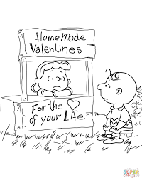Small Picture Peanuts Valentines Day coloring page Free Printable Coloring Pages