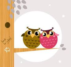 <b>Owl</b> Family, <b>Tree</b>, <b>Moon</b> In Background. Vector <b>Cartoon</b> Illustration ...
