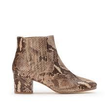 <b>Ботильоны кожаные</b> под кожу крокодила на широком каблуке ...