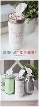 mason jar tissue holder bathroomlikable diy home desk office