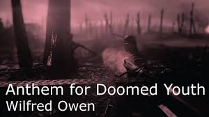 poetry reading wilfred owen s anthem for doomed youth poetry reading wilfred owen s anthem for doomed youth battlefield 1 footage poetry essay
