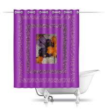 """Шторы в ванную """"<b>Фиолетовая фантазия</b>."""" #2731197 от Eva De ..."""