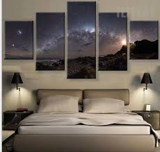 Stars Of The Milky Way Galaxy - 5 Piece Canvas Painting | Living ...