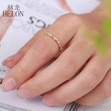 <b>HELON</b> Exquisite <b>Diamonds</b> Engagement Band Solid 10k Yellow ...