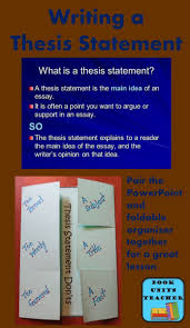 best ideas about writing a thesis statement this blog post provides links to this powerpoint and companion foldable graphic organizer together you will have a terrific lesson on how to write