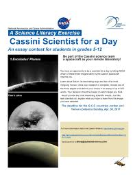 dag nasa essay writing be part of the cassini science team a spacecraft as your remote laboratory