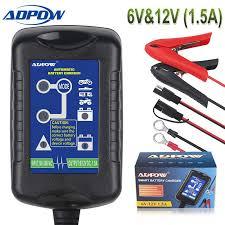 <b>ADPOW</b> 6V 12V Intelligent Motorcycle <b>Car</b> Battery Charger <b>For</b> AGM ...