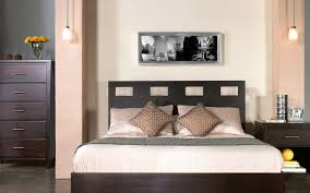 pretty design ideas of bedroom lighting options with rustic pendant lamps and combine with dark brown bed lighting fabulous