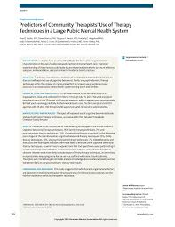 public mental health system therapy techniques pediatrics jama first page pdf preview