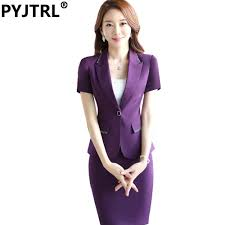 interview clothes for women promotion shop for promotional jacket skirt summer short sleeve women elegant office skirt suits beautician work interview clothes ladies business outfits