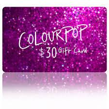 $30 E-Gift Card - ColourPop | Gift card, Egift card, Cards
