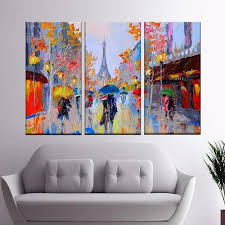 Paris Is Everything <b>Hand-painted Large Wall</b> Art Canvas Paintings 3 ...