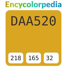 Goldenrod / Золотисто-берёзовый / #daa520 Схемы ...