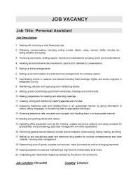 liu personalassistant cover letter gallery of team member job description