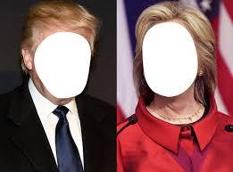 Photo montage Trump y Clinton - Pixiz