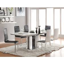 Broderick Contemporary Black and White <b>Five</b>-<b>Piece Dining Set</b> ...