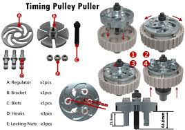 Adjustable <b>Universal Timing Pulley</b> & Injection Pump <b>Puller</b> Extractor ...