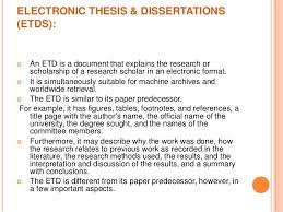 Electronic thesis  amp  dissertations ELECTRONIC THESIS  amp  DISSERTATIONS