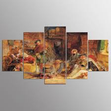 <b>YSDAFEN 5 Panel Modern</b> John Federico Lewis Canvas Art for ...
