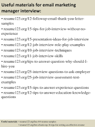 top  email marketing manager resume samples       useful materials for email marketing