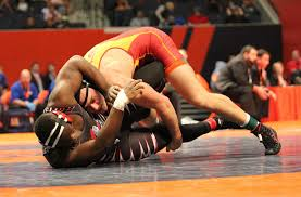 premiumpreps com your 1 new source for chicago high school tinley park senior eric shultz top overpowered john mckinney 22 2 of triad and repeatedly scored en route to a 24 9 technical fall at 5 54