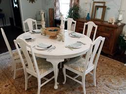 Dining Room Table And Chairs White White Distressed Dining Room Table And Chairs Darling And Daisy