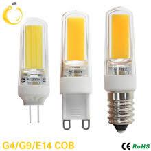 <b>10pcs</b>/<b>lot</b> E14 <b>G9 G4</b> LED Lamp AC 220V DC 12V COB bombillas ...