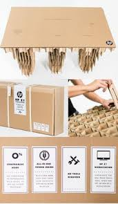 diy cardboard desk by hp interesting cardboard office