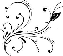 Image result for black and white flourishes