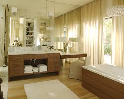 impressive lighted makeup mirror in bathroom transitional with makeup chair next to makeup cabinet alongside makeup lighting and wood lighting fixtures bathroom makeup lighting