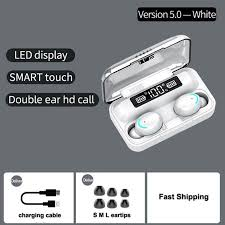 <b>F9</b>-<b>6 TWS</b> BT <b>Wireless</b> Earphones Touch Control 8D HiFi Sound ...