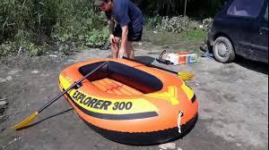 Обзор надувной <b>лодки INTEX Explorer 300</b> - YouTube