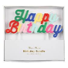 <b>Multicolor Happy Birthday</b> Candle — Meri Meri