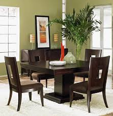 elegant square black mahogany dining table:  dark brown wooden dark wood dining set with a square table