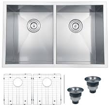 undermount kitchen sink stainless steel: ruvati rvh undermount  gauge quot kitchen sink double bowl